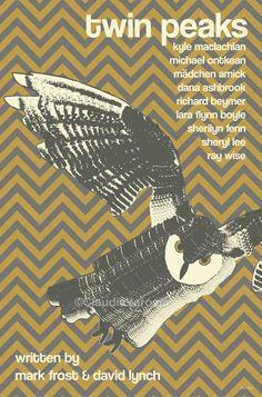 Twin Peaks - Minimal TV Series Poster by Claudia Varosio