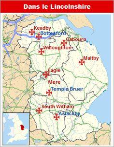 Commanderies templières dans les Midlands de l'Est, Angleterre