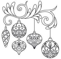 Delicate December - Ornaments design (UTH7259) from UrbanThreads.com