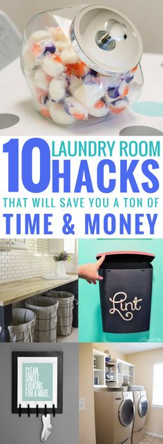 These 10 laundry room ideas are THE BEST! I'm so glad I found these AMAZING tips! Now I have great ways to keep my laundry room organized and redefined! These are going to make doing laundry so much easier. Pin this for later! #Thebestwayfordecoration