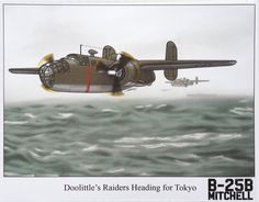 Launching the Doolittle Raid 18 April 1942 print aviation gift World War II Pacific by Historyonashirt on Etsy