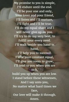 Wedding poems - 22 Examples About How to Write Personalized Wedding Vows Romantic Love Quotes, Love Quotes For Him, Love Poems For Husband, I Love You So Much Quotes, Forever Love Quotes, Husband Quotes, Boyfriend Quotes, Change Quotes, The Vow