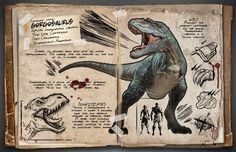 Tutorial de Photoshop en español: Crear Dossier para Dinosaurios de Ark Survival Evolved