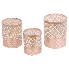 Privilege 3-Piece Iron Boxes - Champagne - Target.com