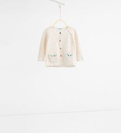 Image 1 of Embroidered cardigan from Zara