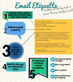 Email etiquette for corresponding with faculty and staff.