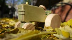 Wooden Tractor Toy for Toddlers /Waldorf Wooden
