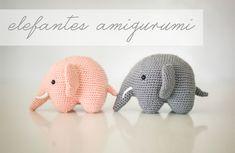 elefantes amigurumi / elephant amigurumi