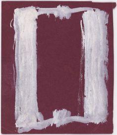 Mark Rothko, Estudios para los murales de la Universidad de Harvard, 1962, gouache y tinta sobre papel de construcción