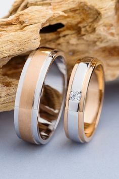 rings sets his and hers two tone Matching wedding rings. Wedding bands his and hers. Two tone wedding bands. His and hers wedding bands. Matching Wedding Rings, Wedding Matches, Diamond Wedding Rings, Bridal Rings, Matching Rings, Couples Wedding Rings, Matching Couples, Rustic Wedding Bands, His And Hers Rings