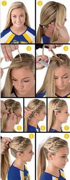 A Whole Month Of New Braided Hairstyles With These 33 Easy Braids - hair - Hair Designs New Braided Hairstyles, Pretty Hairstyles, Girl Hairstyles, Relaxed Hairstyles, Cute Cheer Hairstyles, Hairstyle Ideas, Newest Hairstyles, Urban Hairstyles, Princess Hairstyles