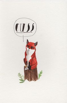 Foul mouthed fox by Dick Vincent Illustrations