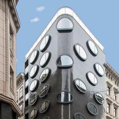 Facade outside architecture Hotel Topazz Vienna