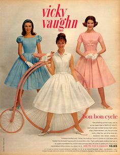 """Fashion Advertisements in 1960 from """"Seventeen"""" Magazine"""
