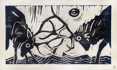 kdo pour mini G. ;-) © defawa #linocut #linogravure #linoprint #printmaking #defawa