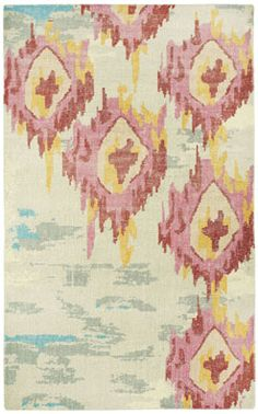 Vintage Sunset Rug in Pink Grey is a modern hand-knotted rug with an antique look. #CapelRugs