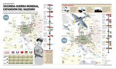 El Baúl de la Historia Universal: INFOGRAFÍA: EXPANSIÓN NAZI (1939-1940)