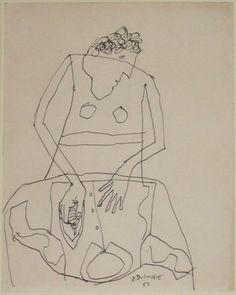 Woman ironing a shirt I 1951 Jean Dubuffet