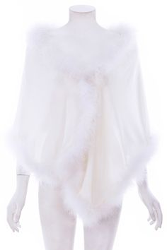 #ROMWEROCOCO. ROMWE | Fluffy Embellished White Shawl, The Latest Street Fashion