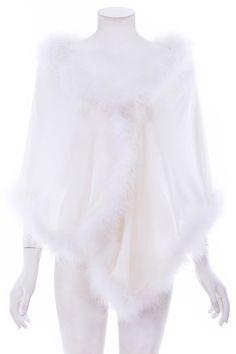 #ROMWEROCOCO. ROMWE | Fluffy Embellished White Shawl, The Latest Street Fashion