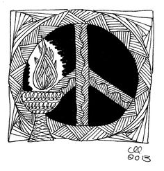 Zentangle Chalice by Cynthia Landrum -- #93: Peace