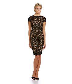 Tadashi Shoji Illusion Lace Dress | Dillard's Mobile