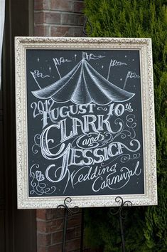 Carnival wedding sign