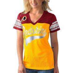 Washington Redskins G-III 4Her by Carl Banks Pass Rush T-Shirt - Gold - $34.99