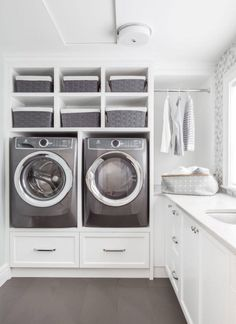 Laundry Ceiling Storage, Laundry Basket, Laundry Room, Home Organization, Stacked Washer Dryer, Washer And Dryer, Mudroom, Home Appliances, Flooring