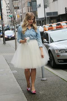 How to style a tulle skirt for a more casual look