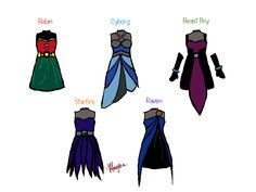 Teen Titans Dresses by ~Magma823