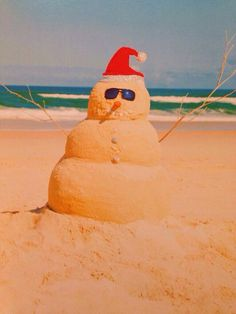 Silva Minogue Christmas in Australia! Genius card from xx