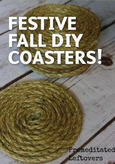 All you need is some Sisal Rope for this easy DIY coaster project. | home decor | fall project