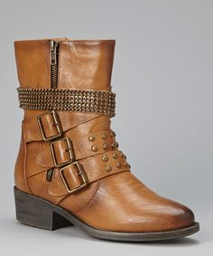 Love this Camel Studded Harper Boot by Bumper on #zulily! #zulilyfinds