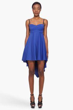 KAROLINA ZMARLAK // Blue Décolleté Dress