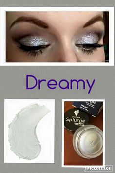 Splurge Cream Eye Shadow by Younique in Dreamy A shimmery silver colour. Available from www.youniqueproducts.com/kirstyjashforth