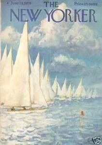The New Yorker Cover - June 1959 Regular Giclee Print by Arthur Getz The New Yorker, New Yorker Covers, Magazine Illustration, Illustration Art, Vintage Illustrations, Journal Vintage, Framed Artwork, Wall Art, Magazine Art