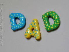 Salt Dough Dad Magnets for #fathersday #kidscrafts
