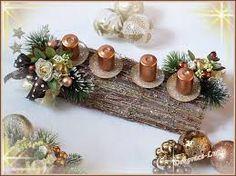 Výsledek obrázku pro vánoční svícen v květináči