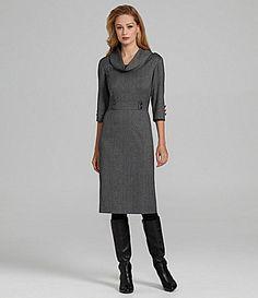 Antonio Melani Caleigh Cowlneck Herringbone Dress | Dillards.com