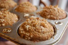 The Sparitarian: Banana Crumb Muffins