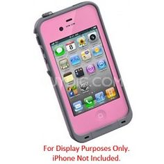 Pink Waterproof Shockproof and Dirtproof iPhone Case <---- should get this
