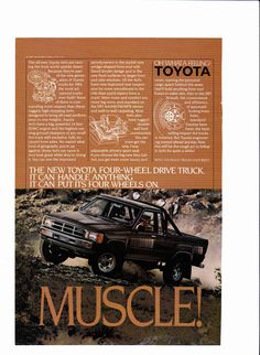 1984 Toyota 4X4 truck ad - National Geographic, September 1984