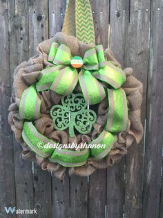 St. Patrick's Day Burlap Wreath