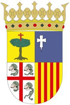 Escudo de Aragón - España Aragón es una comunidad autónoma de España, resultante del reino histórico del mismo nombre y que comprende el tramo central del valle del Ebro.