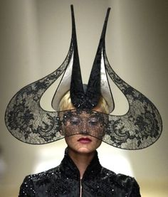 Couture Hats, Hats, Phillip Treacy, Phillip Treacy Hats  Has medieval influence.