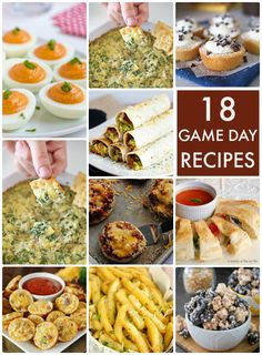 I love football season... if only because of snacks! I'm always looking out for new recipes to add to my repertoire, so here are 18 Game Day Recipes!