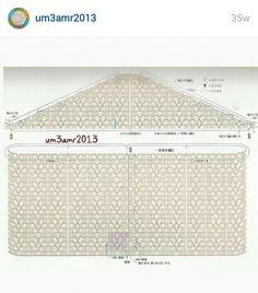 Instagram@um3amr2013 . PICTURE ONLY. Crochet bolero. Pattern diagram #1