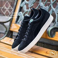 #pumasuede #pumaclassic #modernheritage  Puma Suede Modern Heritage - A simple black colorway is used for this classy silhouette, making this Puma a dope addition to your collection.  Now online available | Priced at 79,99 EU | Men Sizes 39 - 47 EU |