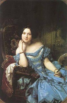Amalia de Llano y Dotres,  La Contessa de Vilches, Federico Madrazo  1853